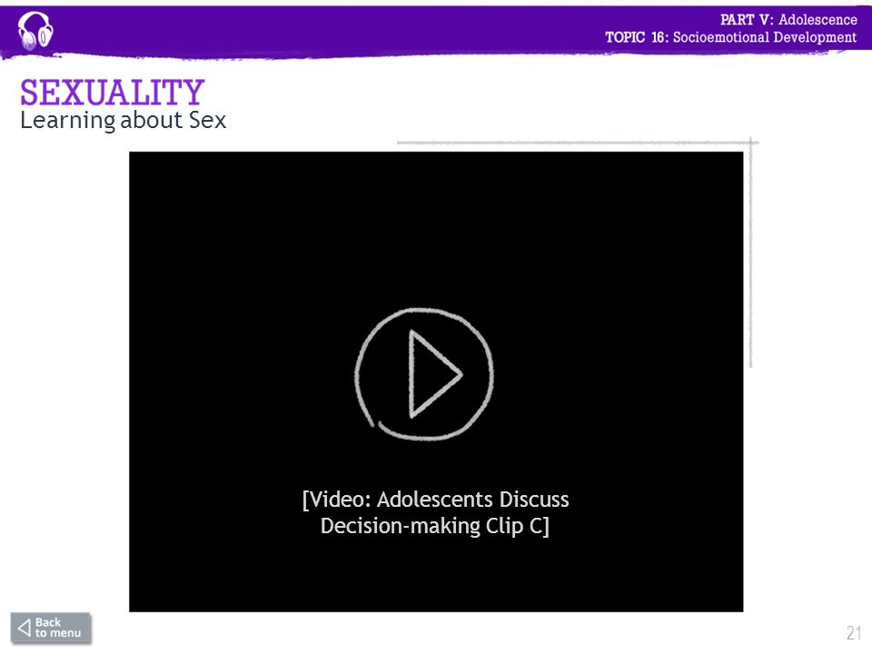 Learning About Sexuality Video